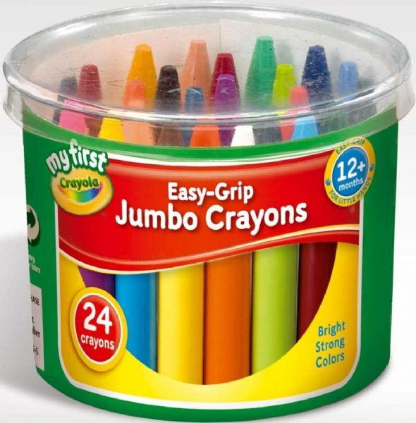 Crayola My First Easy Grip Jumbo Crayons for Toddlers Pack of 24